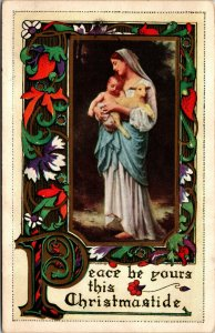 Christmas - Christmastide - Mary Lamb - Religious - Vintage - POSTCARD PC POSTED