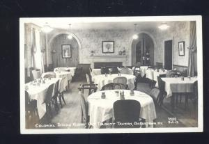 RPPC BARDSTOWN KENTUCKY TALBOTT TAVERN RESTAURANT REAL PHOTO POSTCARD KY.