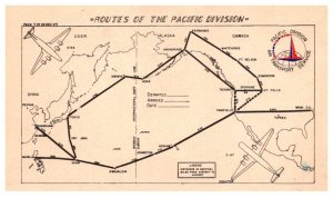 The Routes of Pacific Division Air Transport Services