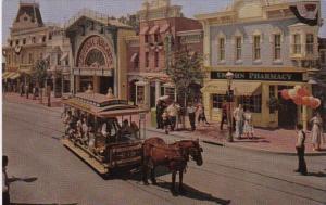 Disneyland Horse Drawn Trolley On Main Street