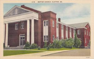 Exterior, Baptist Church, Clayton, Georgia, 30-40s
