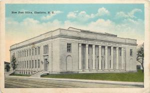 Charlotte North Carolina~New Post Office~1918 Postcard