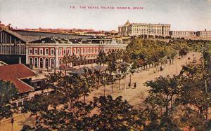 The Royal Palace, Madrid, Spain, Early Postcard, Unused