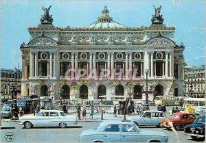 Modern Postcard Under the Sky of Paris Place de l'Opera