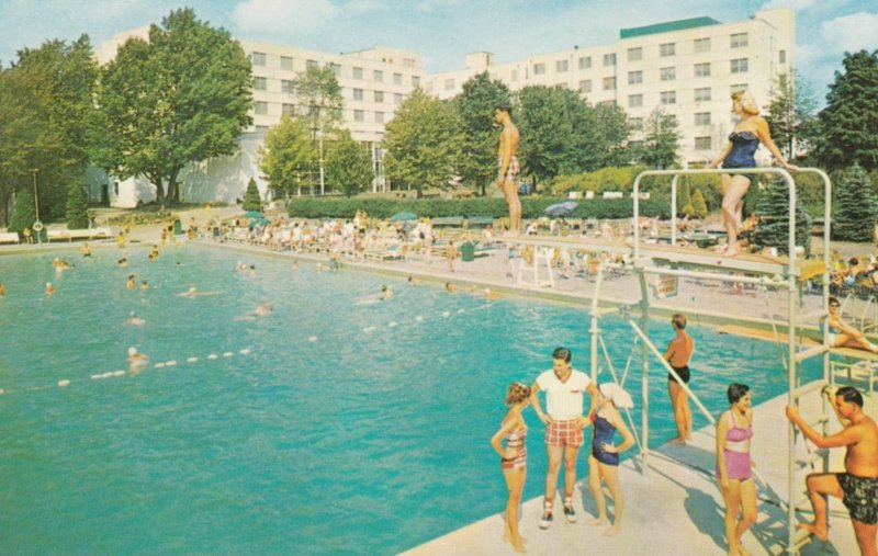 KIAMESHA LAKE, New York, 1950-60s; The Concord Hotel, Olympic Size Filtered S...
