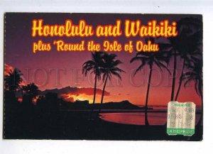 204369 ALOHA from HAWAII sunrise old postcard