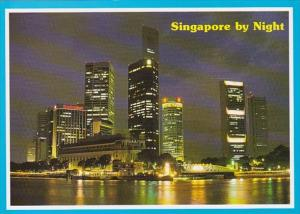 Singapore Financial Heart Skyline At Night
