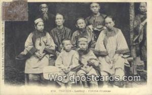 Vietnam, Viet Nam,  Nhân Vật Tonkin Laokay, Famille Chinoise