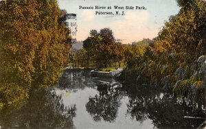 Passaic River at West Side Park in Paterson, New Jersey