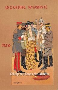 Signed Praschka La Guerre AmUSA nte Paix Artist Raphael Kirchner 1901