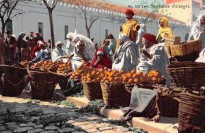 Tunisia Tunis Les Marchands d'oranges, Fruits Market Commerce
