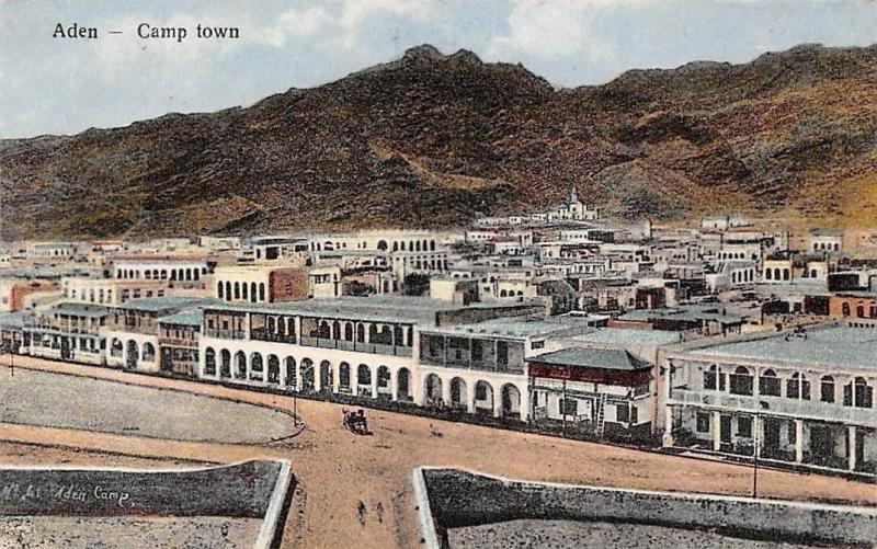 Yemen Aden Camp town, I. Benghiat Son, Postcard