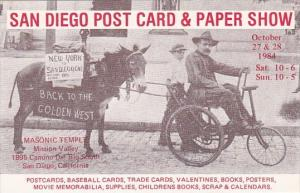 San Diego POst Card & Paper Show 1984