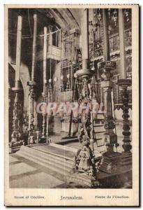 Old Postcard Jerusalem Stone of Unction