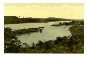 Panama - Canal Zone. San Pablo Cut, Canal Channel from Caimito Hill