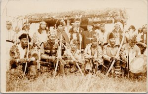 First Nations People & Priest ? Posted Smithers BC 1938 RPPC Postcard E67 *as is