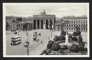 Berlin Brandeburg Gate Parisian Plaza Germany Unused c1920s