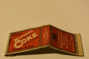 Genuine Koppers Coke Made in Chicago Red 20 Strike Matchbook Cover