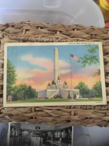 Vtg Postcard: Lincoln Tomb , Springfield IL