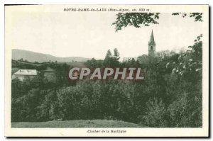 Old Postcard Our Lady of Laus Hautes Alpes Bell tower of the Basilica