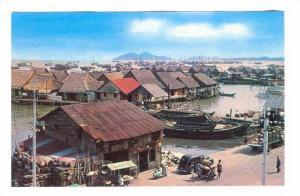 Atap Houses At Kampong Ayer, Penang, Malaysia, Asia, 1940-1960s