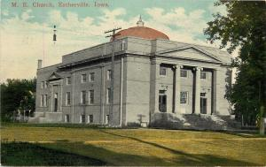 Esterville Iowa~Methodist Episcopal Church~Dome~Front Side Entrances~1910 PC
