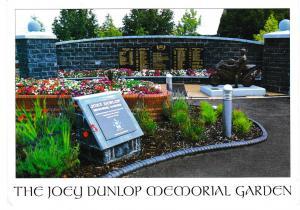 Post Card IRELAND Northern Ireland Ballymoney The Joey Dunlop Memorial Garden