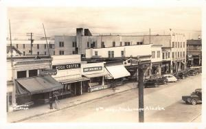 Anchorage~Seidenverg Clothes~Ship Creek Meat~Vic Brown Jewelry~Lois~RPPC 1940s