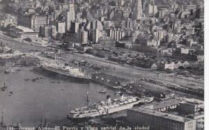 BUENOS AIRES , Argentina , 20-30s ; El Puerto y vista parcial de la ciudad