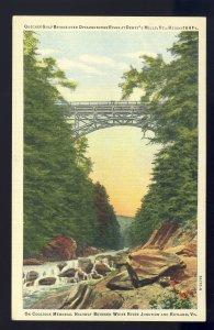 Dewey's Mills, Vermont/VT Postcard, Quechee Gulf Bridge, Ottauquechee River