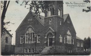 Ohio Postcard 1912 JEWETT ME Church Building