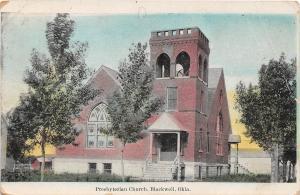 B54/ Blackwell Oklahoma Ok Postcard 1910 Presbyterian Church 2