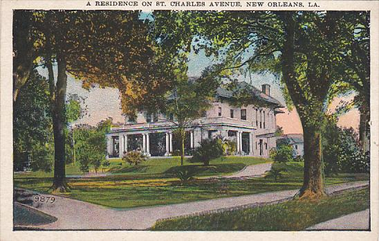 A Residence On St Charles Avenue New Orleans Louisiana
