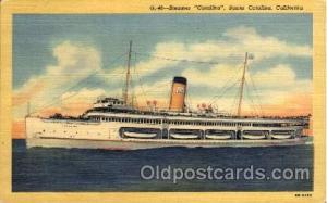 Steamer Catalina, Santa Catalina, California, USA Ship Ships Postcard Postc...