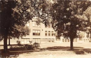 Benson Minnesota~High School Building~1938 Real Photo Postcard