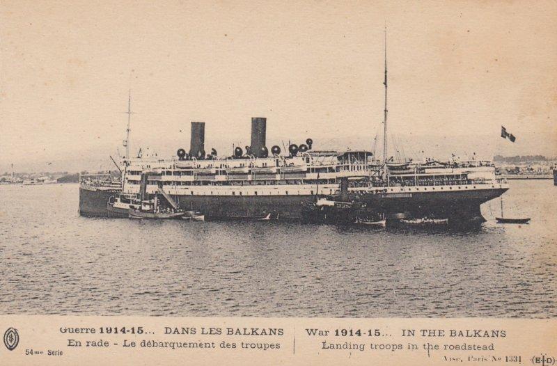 War 1914-15 ; In the Balkans , Landing Troops