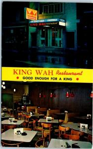 Chicago IL Postcard KING WAH Chinese Restaurant 2225 S. Wentworth Ave. c1960s