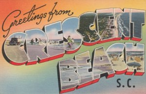 Large Letter Greeting ,  OCEAN BEACH  , South Carolina, 1930-40s