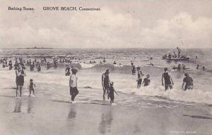 Connecticut Grove Beach Bathing Scene Albertype
