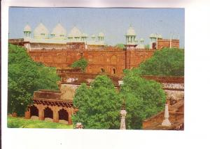 Zama Maszid Agra Fort with Green Trees, India