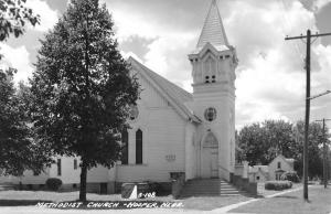Hooper Nebraska Methodist Church Real Photo Antique Postcard K59655
