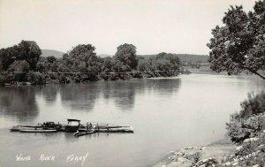 LP36 RPPC White River Ferry Arkansas    Postcard