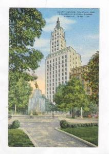 Court Square Fountain And Columbian Mutual Tower, Memphis, Tennessee, 30-40s