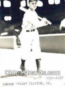 Herman Flea Clifton Baseball Postcard Detroit Tigers Base Ball Po...