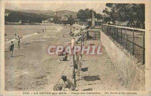 Postcard Old Seyne sur Mer Beach Sablettes
