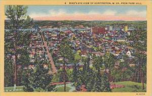 West Virginia Huntington Birds Eye View Of Huntington From Park Hill
