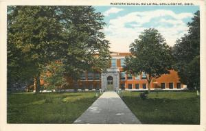 Chillicothe Ohio~Long, ½ Shade, ½ Sunny Path to Western School~1913 Postcard