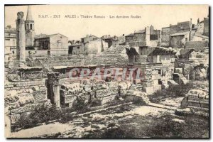 Postcard Ancient Roman Theater Arles The latest excavations