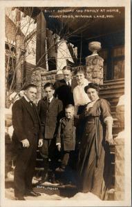 Winona Lake Indiana~Mount Hood~Billy Sunday & Family @ Home~Kids~c1915 RPPC