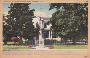 Woodrow Wilsons Boyhood Home Columbia South Carolina 1944